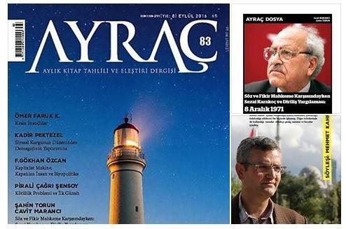 Ayraç Kitap Tahlili ve Eleştiri Dergisi 83. Sayı - Edebiyat Haber Portalı