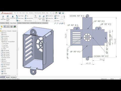 Solidworks Sheet Metal Tutorial Switch Box Youtube In 2020 Sheet Metal Drawing Solidworks Tutorial Sheet Metal