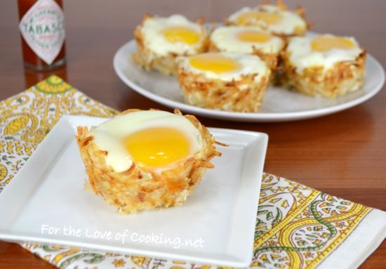 Hash Brown Nests with Egg, Ham, and Sharp Cheddar | Food & Recipes ...
