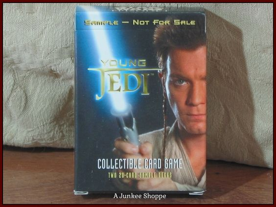 STAR WARS Young Jedi Collectible Card Game Promo Deck The Phantom Menace 1999  Junk 670  http://ajunkeeshoppe.blogspot.com/