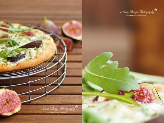autumn pizza with figs and gorgonzola