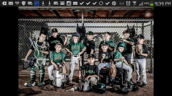 Baseball Team Pose Ideas | Baseball pose