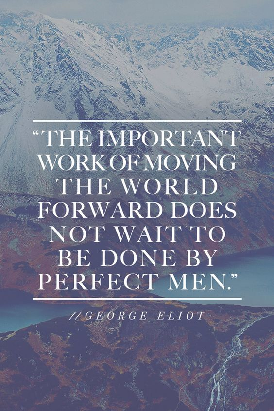Today I'm Channelling George Eliot