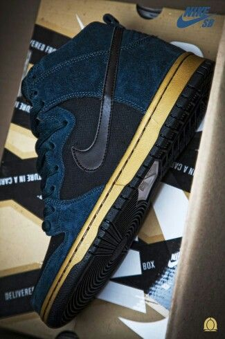 Nike SB Dunk Hi Blue Gold Coming Soon I'm not A big fan but i like these