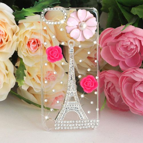 3D Silver Eiffel Tower Bling Diamond Hard Back Case for Apple iPod Touch 5th Gen | eBay