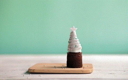 Miniature Christmas cake 3cm round