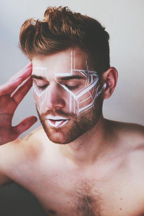 Image Result For Festival Makeup Ideas Men Burning Man Makeup Male Makeup Festival Makeup