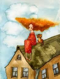 Картинки по запросу акварель крыши уроки