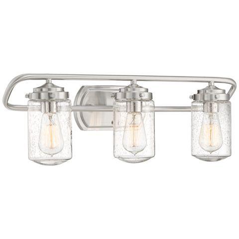 Nichols 24 Wide Brushed Nickel 3 Light Bath Light 47d98 Lamps Plus In 2020 Bath Light Modern Wall Lights Light Fixtures
