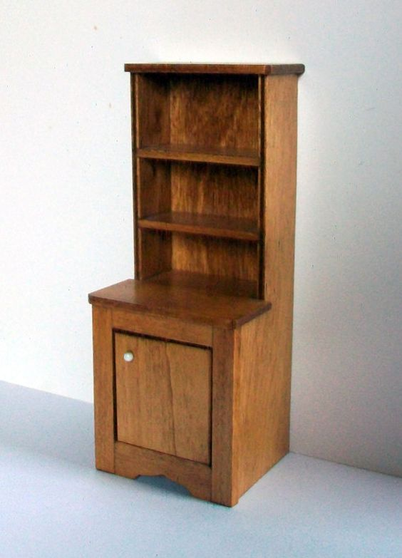 Miniature Hutch 1:12 scale by MarquisMiniatures on Etsy