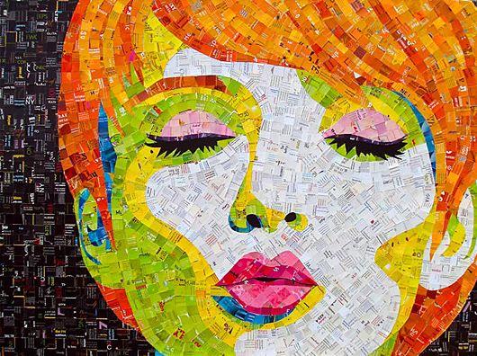 : Pop Art, Junk Mail, Art Collage, Paper Collage, Mail Mosaic