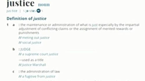 Justice Named Merriam Websters 2018 Word Of Words Definition Of Justice Names