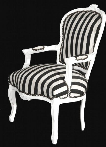 Barock Salon Stuhl Schwarz Weiss Streifen Weiss Mobel Gestreift Stuhle Barock Stuhle Salon Stuhle Mod1 Schwarz Weisse Streifen Stuhl Schwarz Salon Stuhle