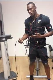 El velocista Usain Bolt, sigue el entreno EMS Miha Bodytec. Me pondré igual que el?