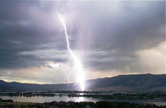 lightning hit, eden, utah.