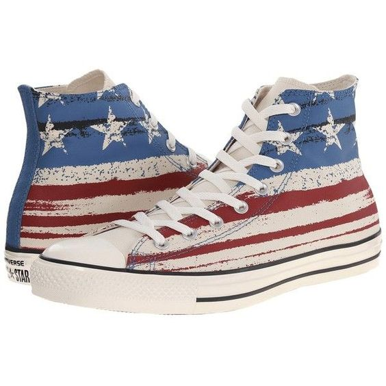 American flag high top sneakers - these stars & stripes are a great look for Veteran's Day!