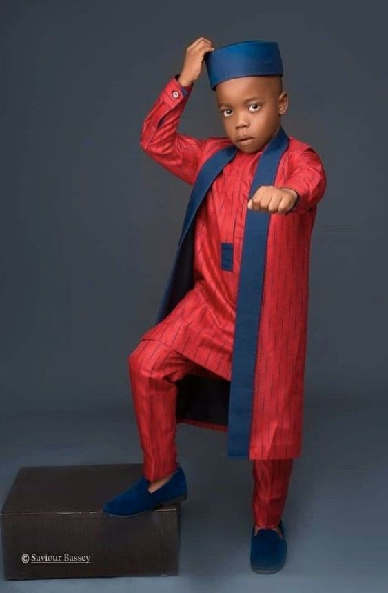 Agbada Styles For Male Kids