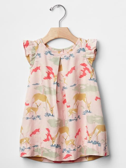 Pleated deer dress. I see this in Elise closet in the near future.