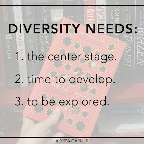 We keep saying: WE NEED DIVERSITY. But what does diversity need? Can there be TOO MUCH diversity in one book? Read this post about what's MORE important when including diversity in your novel!