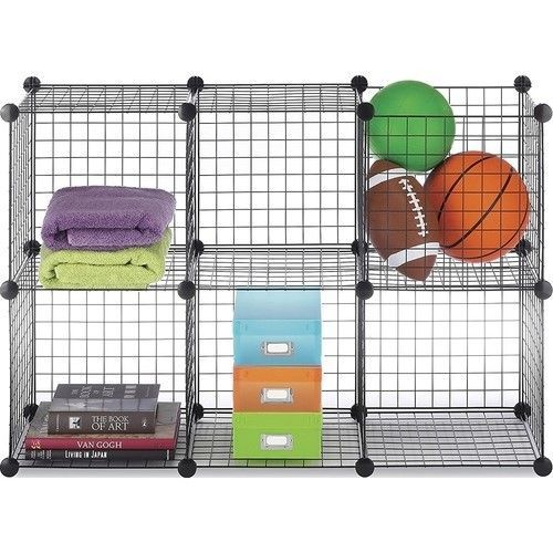 Storage Cube Set Wire Dorm Stackable Organizer Shelves Grid Closet Rack Box Room Whitmor Wire Storage Shelves Wire Storage Whitmor