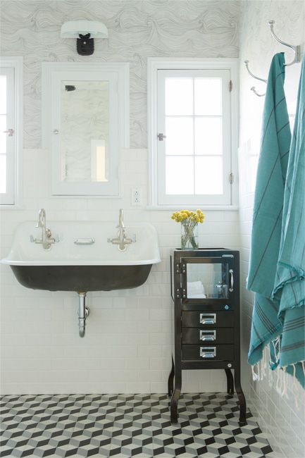 Coats contemporary bathrooms and hooks on pinterest for Seascape bathroom ideas