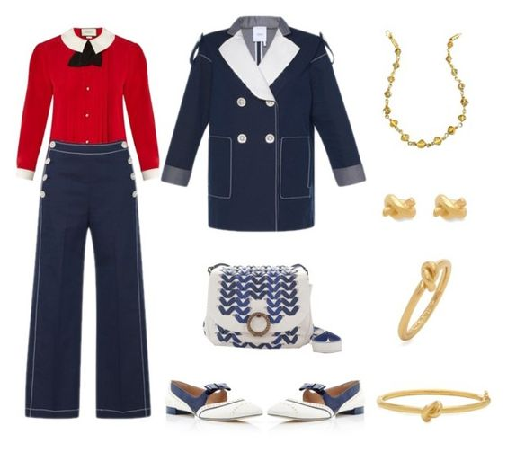 """""""Fleet Week in San Francisco"""" by karen-galves ❤ liked on Polyvore featuring Gucci, Tory Burch and Kate Spade"""