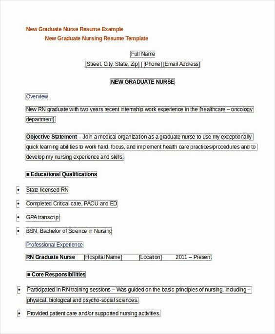 New Graduate Nurse Resume Examples Luxury Registered Nurse Resume Example 7 Free Word Pdf Nursing Resume Template Nursing Resume Nursing Resume Examples