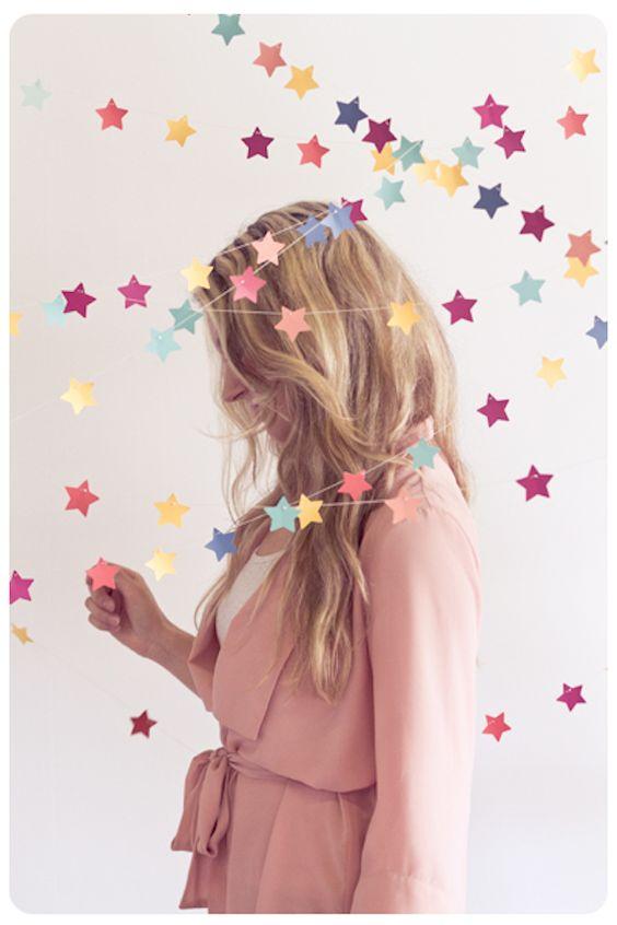 Guirnalda de estrellas / Star garland - La Factoría Plástica