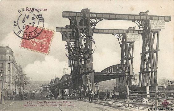 Les Travaux du Metro - Boulevard de la Gare - 1903..@CParanta..reépinglé par Maurie Daboux ❥•*`*•❥