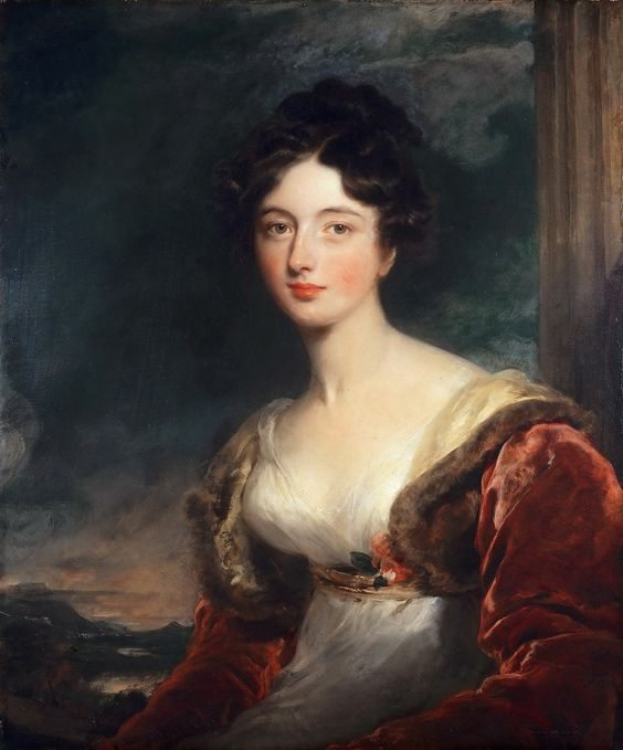 """Portrait of Mrs James Fraser of Castle Fraser"" (1817) by Sir Thomas Lawrence (1769-1830)."