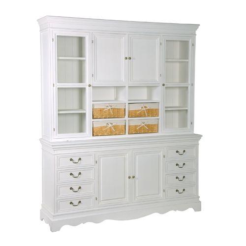 White Dresser With 4 Baskets