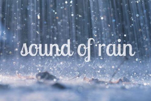 Rain, rain, rain, beautiful rain.