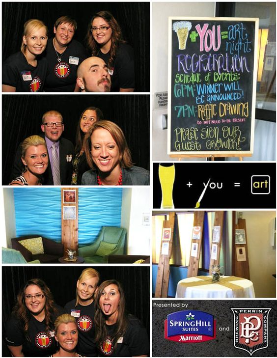 ArtNight 2013 with SpringHill Suites Grand Rapids North and Perrin Brewing Company #marriott #art #beer