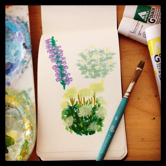 Flower paint sketches