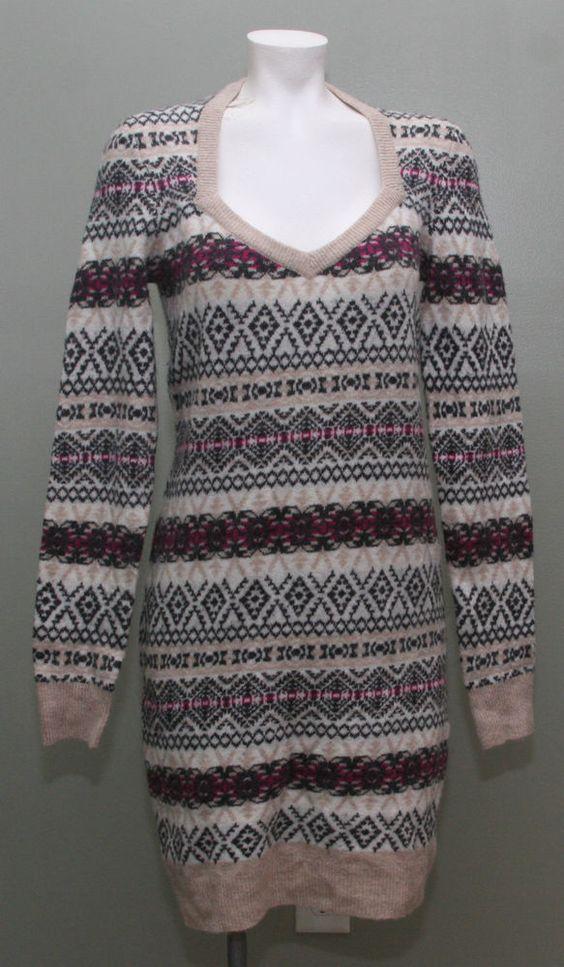 Victoria's Secret Moda Internaional Sweater Dress NWOT Fair Isle ...
