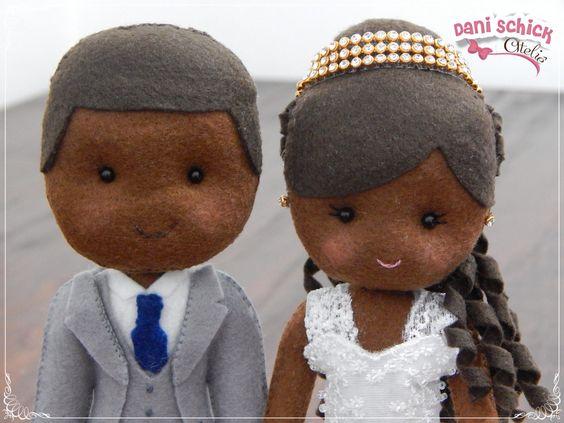 African American bride groom