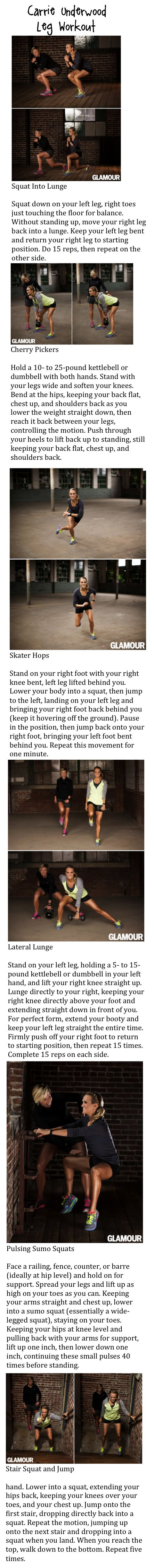 Carrie Underwood Leg Workout #fitspiration