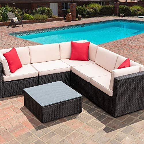 Check This Furniwell 6 Pieces Patio Outdoor Furniture Sets All