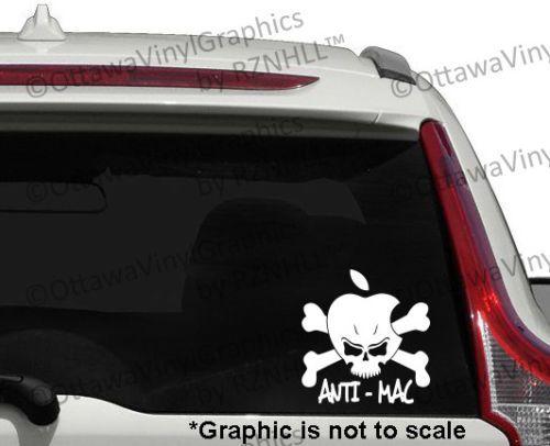Anti Apple Skull Cross Bones Anti Mac Window Laptop Bumper