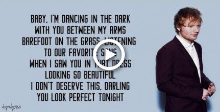 Perfect Ed Sheeran Lyrics Wedding Ed Sheeran Lyrics Ed