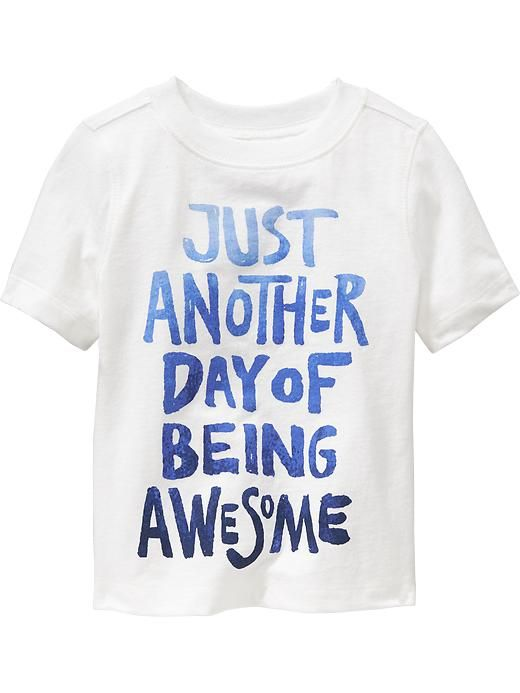 """Being Awesome"" Tees for Baby Product Image"