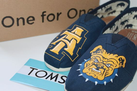 A&T University Toms for info, email dsdeverx@hotmail.com or check out my etsy shop to order www.tresfancy.etsy.com