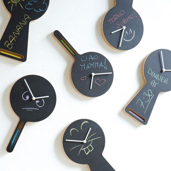 Chalkboard clock panel. Perfect.  via Fab.com | Tablito