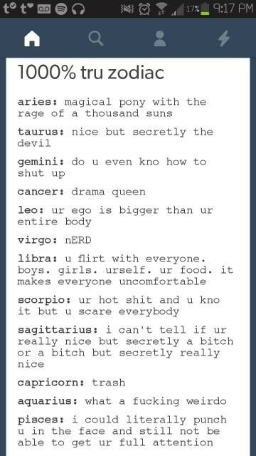 I'm a leo, and my ego isn't bigger than my entire body. Yeah, I'm confident with myself, okay, but no, I do not have a big ego. Thank you and goodnight. Bitch.