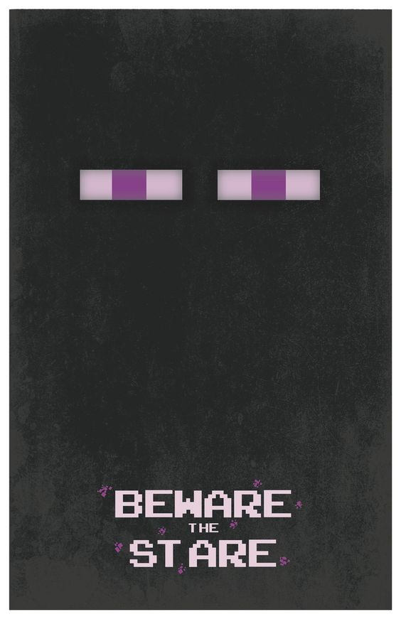 minecraft enderman 11x17 poster beware the stare by