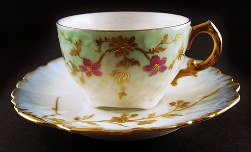French Elite Limoges Demitasse Cup Saucer