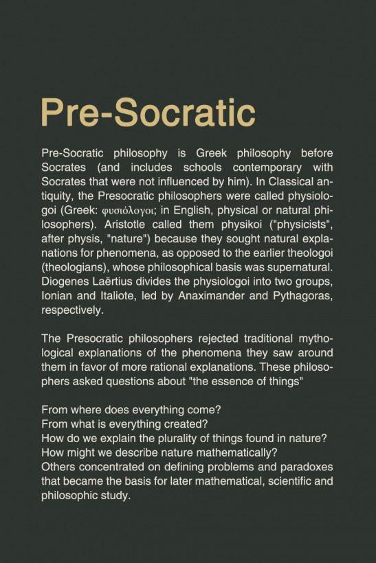 Philosophy Pre Socratic Philosophy Reference Presocratic Human Human Philosophy Philosophy Books Philosophy Philosophy Theories