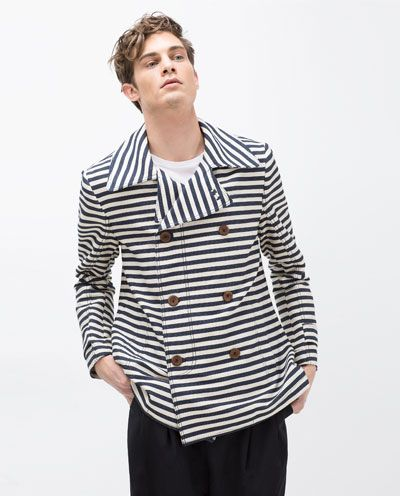 Image 4 of THREE QUARTER STRIPED TRENCH COAT from Zara: