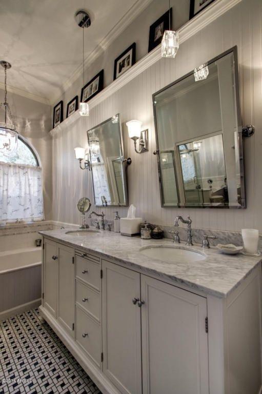 Brushed Nickel Bathroom Mirror Lanzhome Com Round Mirror Bathroom Large Bathroom Mirrors Bathroom Mirror