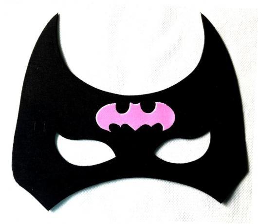 Fantasia Batgirl Improvisada Mascara Preta E Rosa Batgirl
